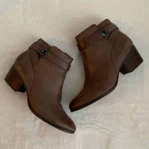 Coach Patricia booties with buckle accent, sz 8